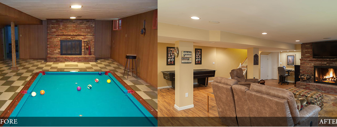 Before & After | Cozy Rec Room