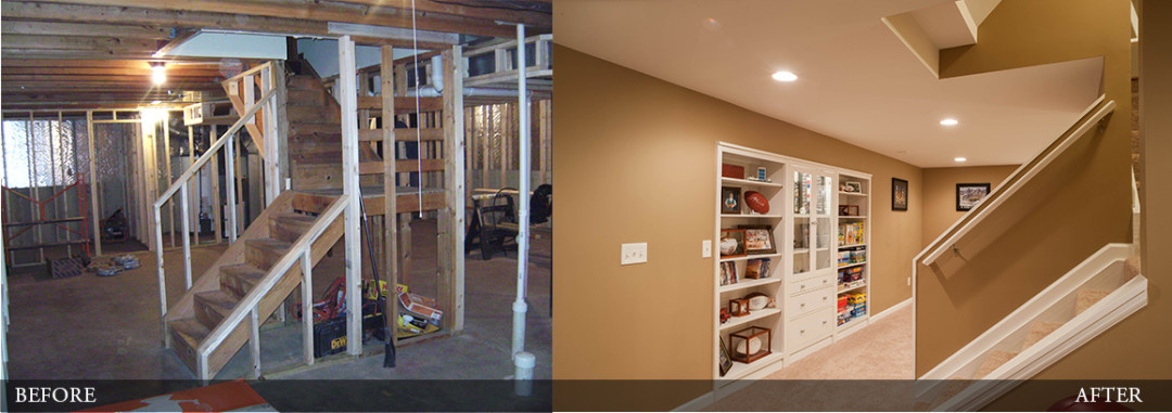Before & After   Rec Room with Storage
