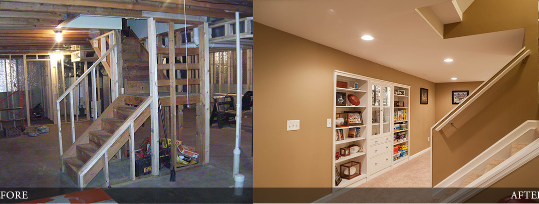 Before & After | Rec Room with Storage